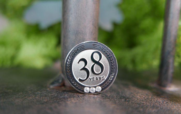 38 years pin